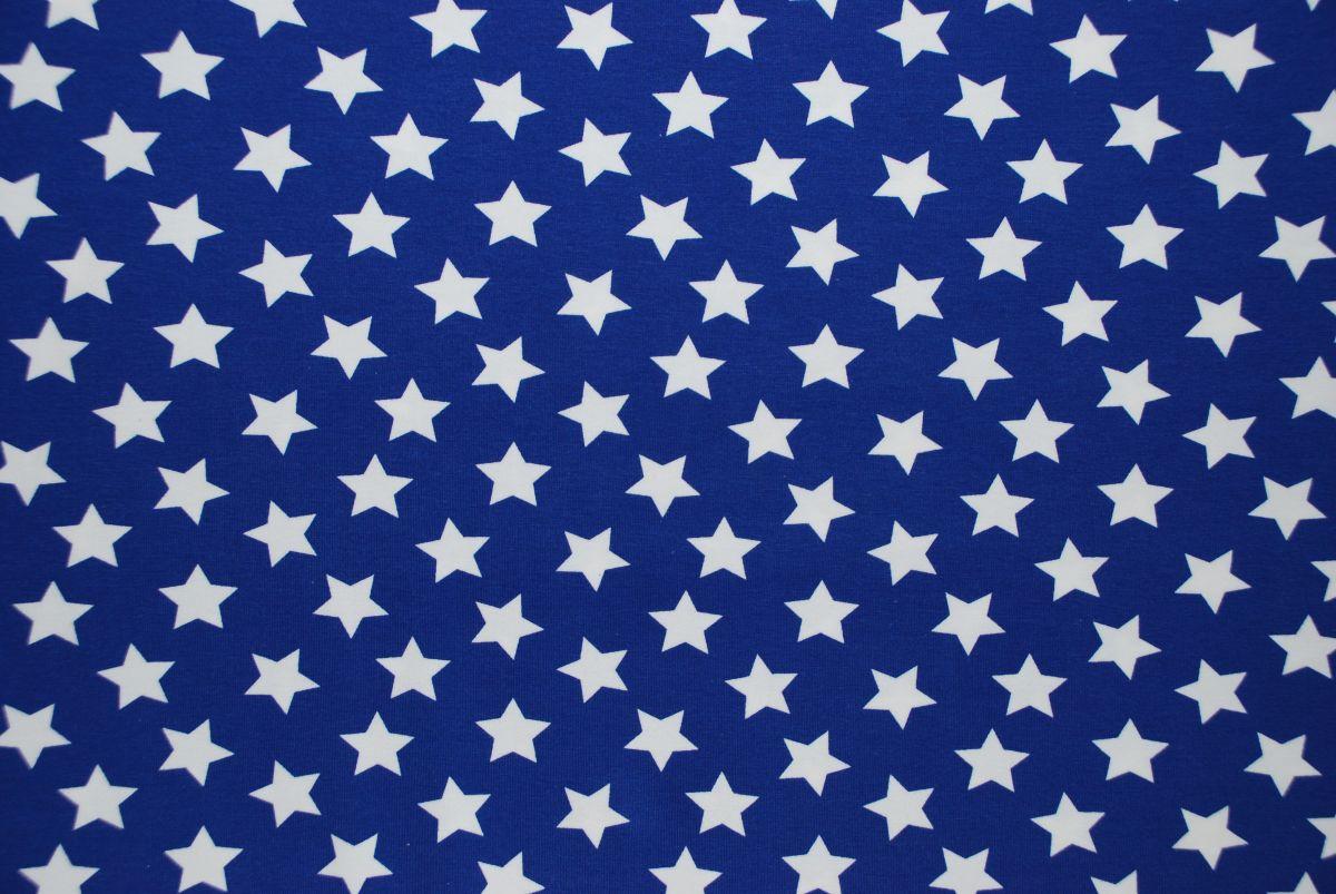 Tricot blauw sterren