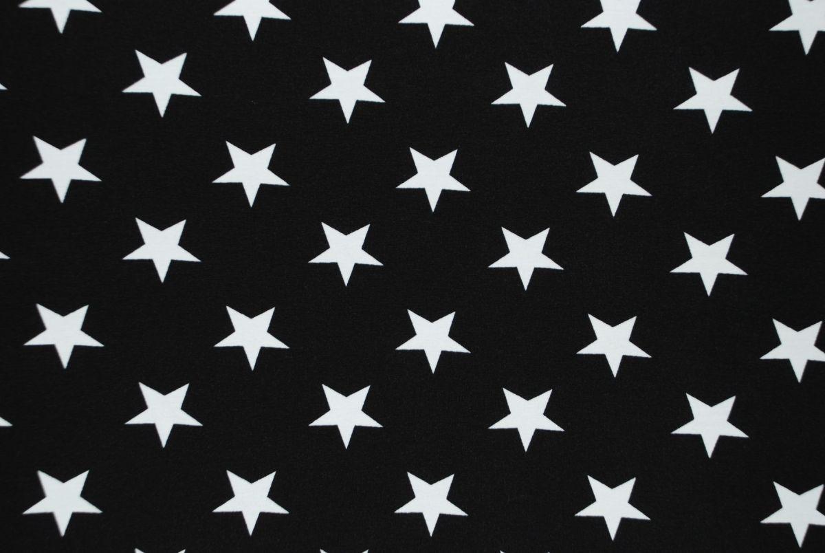 Tricot Grote sterren Zwart