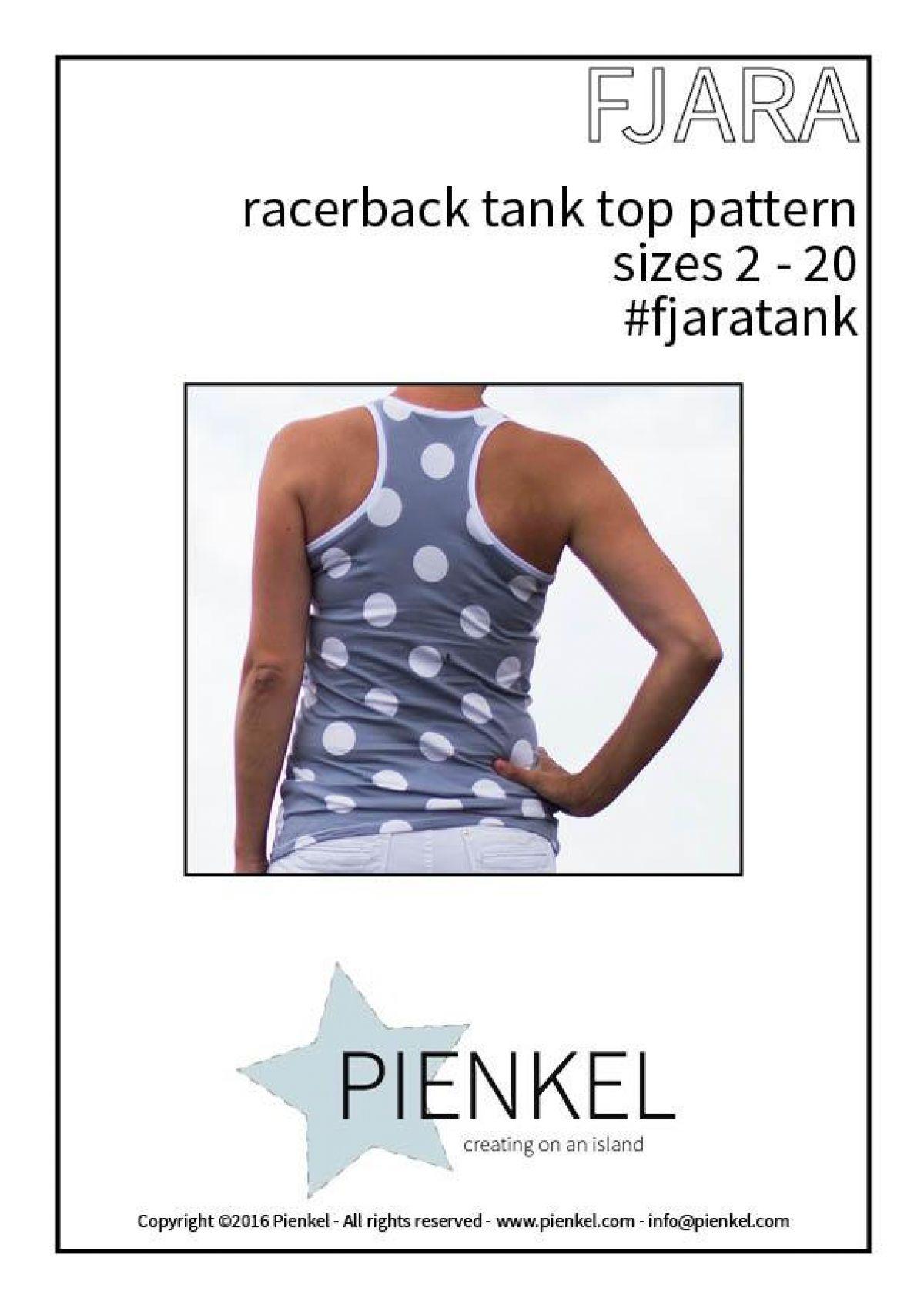 Download patroon - Pienkel FJARA Tank Top Dames
