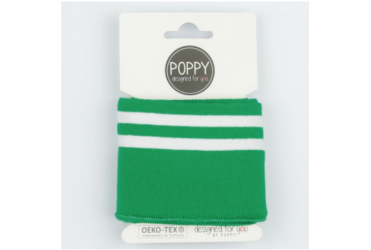 Poppy Boord Groen Wit Gestreept