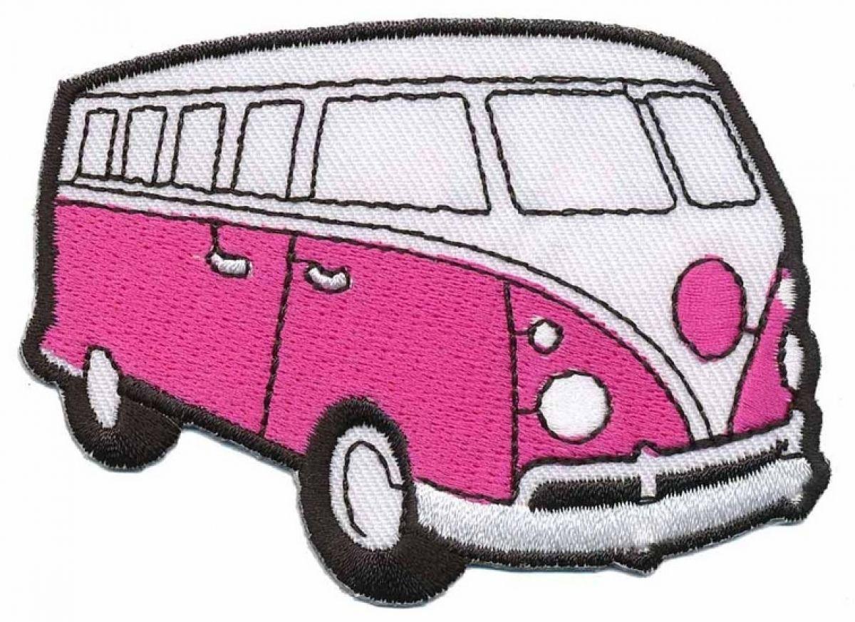Strijkapplicatie Volkswagen Bus Fuchsia