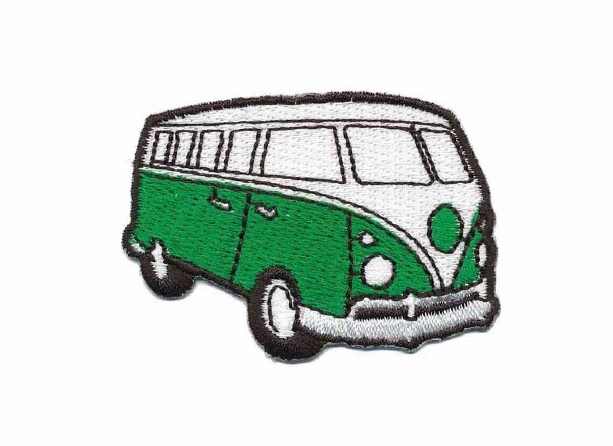 Strijkapplicatie Volkswagen Bus Groen