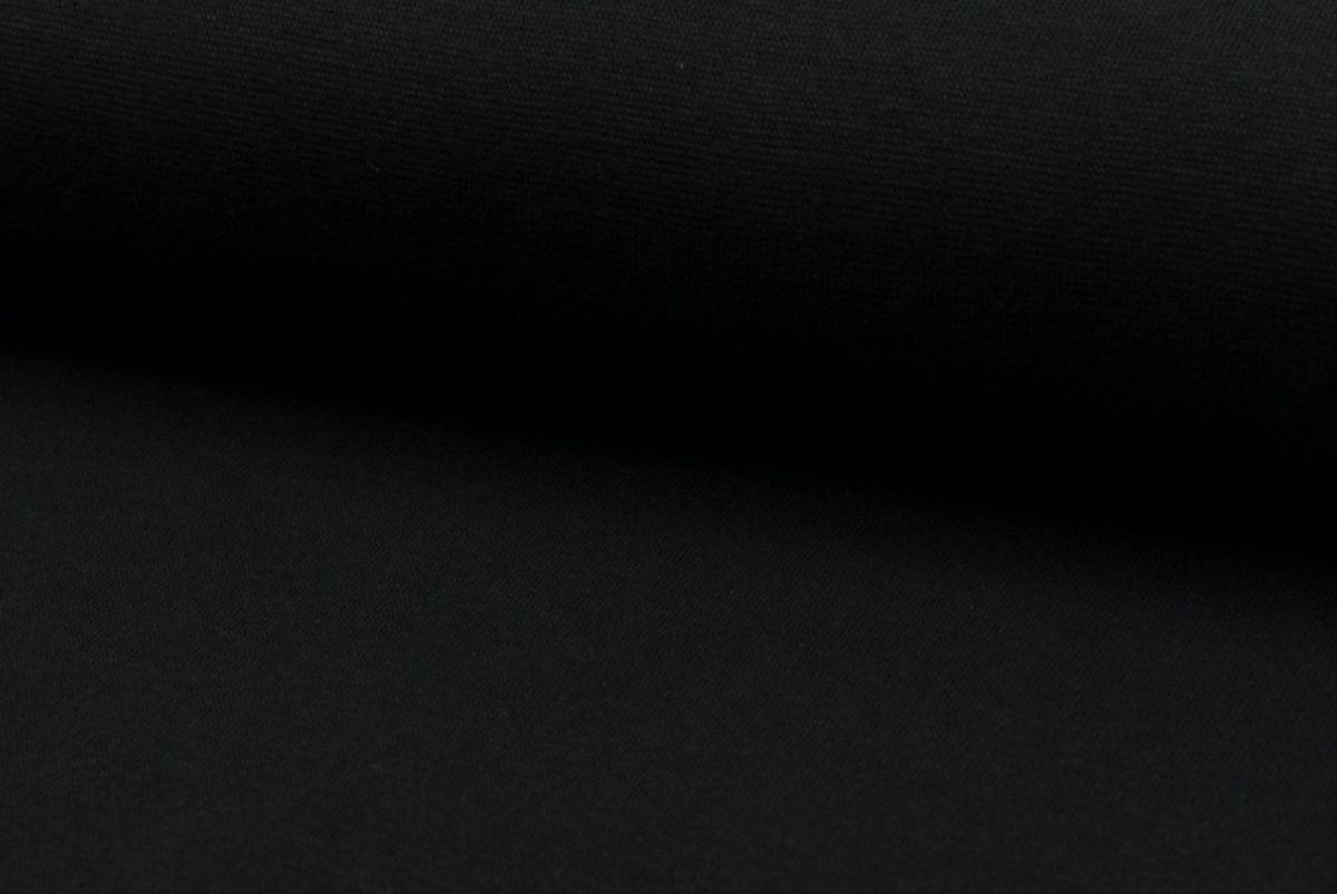 Tricot boordstof zwart